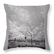 American Highway Throw Pillow