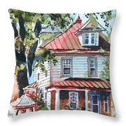 American Home With Children's Gazebo Throw Pillow
