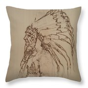 American Horse - Oglala Sioux Chief - 1880 Throw Pillow