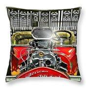 American Hot Rod Throw Pillow
