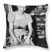 American In Internment Camp Throw Pillow