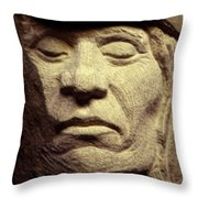 American-indian-portrait 2 Throw Pillow