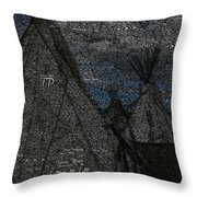 American Indian Pow Wow  Throw Pillow