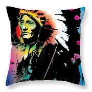 American Indian Silo Throw Pillow