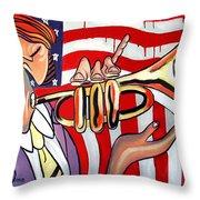 American Jazz Man Throw Pillow
