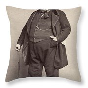 American Man, 1860s Throw Pillow