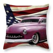 American Merc Throw Pillow