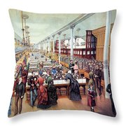 American Millinery, C1885 Throw Pillow