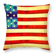 American Money Flag Throw Pillow