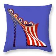 American Mule Throw Pillow