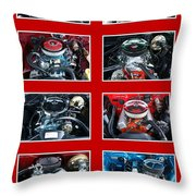 American Muscle Red Poster Throw Pillow