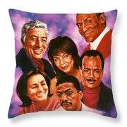 American Music All Stars Throw Pillow