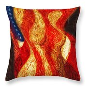 American Nude Throw Pillow