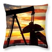 American Oil  Throw Pillow