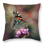 American Painted Lady Butterfly 2014 Throw Pillow