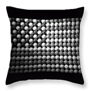 American Pastime In Black And White Throw Pillow