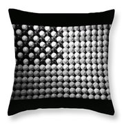 American Pastime In Black And White1 Throw Pillow