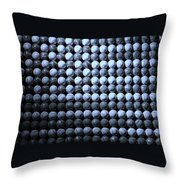 American Pastime In Cyan Throw Pillow