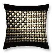 American Pastime In Sepia Throw Pillow