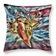 American Pride Throw Pillow by Donna Proctor