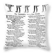 American Revolution: Song Throw Pillow