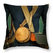 American Revolutionary Soldier Throw Pillow