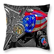 American Ride Throw Pillow