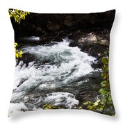 American River's Levels Throw Pillow