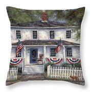 American Roots Throw Pillow by Chuck Pinson