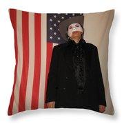 American Ruffles Throw Pillow