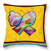 American Sign Language Love Throw Pillow