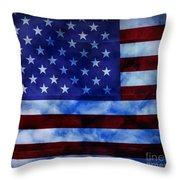 American Sky Throw Pillow
