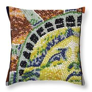 American Statue Of Liberty Mosaic  Throw Pillow