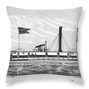 American Steamboat, 1827 Throw Pillow
