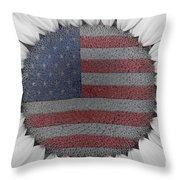 American Sunflower Power Throw Pillow