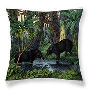 American Tapir Throw Pillow