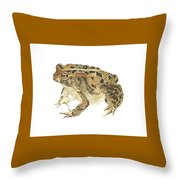 American Toad Throw Pillow