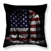 American Tombstone Throw Pillow