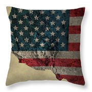 American West Topography Map Throw Pillow