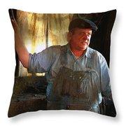 American Workingman Throw Pillow