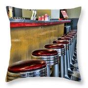 Americana - 1950's Diner Throw Pillow
