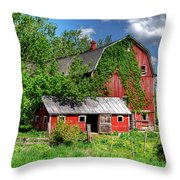 Americana In New York Throw Pillow