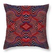 Americana Swirl Banner 2 Throw Pillow