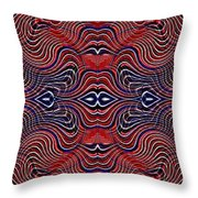 Americana Swirl Banner 4 Throw Pillow