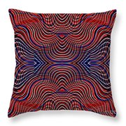 Americana Swirl Design 10 Throw Pillow