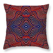 Americana Swirl Design 11 Throw Pillow by Sarah Loft