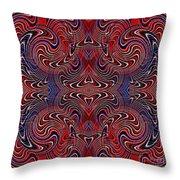 Americana Swirl Design 2 Throw Pillow