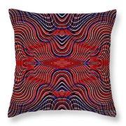 Americana Swirl Design 9 Throw Pillow