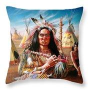 Americans Throw Pillow by Adrian Cherterman