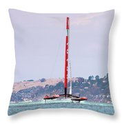 America's Cup 2013 Luna Rossa 02 Throw Pillow